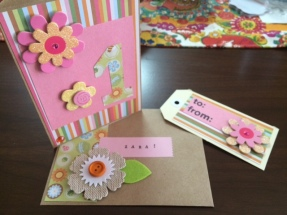 Zara - 1st bday card - blog